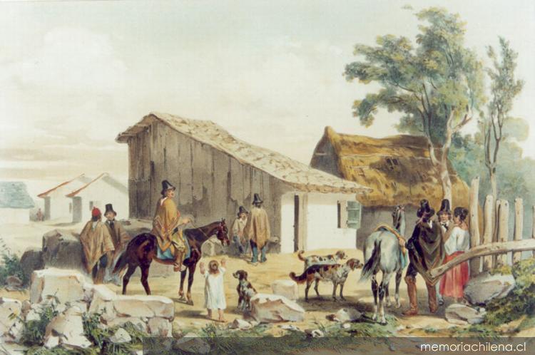 Casa del Cacique Penoleo en Concepción, hacia 1846