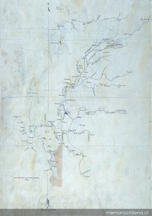 Plano de la zona de Valdivia, entre el río Mehuin y Lumaco, 1830